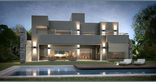 Inarch arquitectura construcci n casa estilo actual for Fachadas de casas modernas