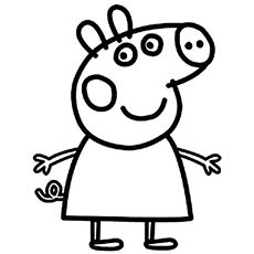 Top 35 Free Printable Peppa Pig Coloring Pages Online | Peppa pig ...
