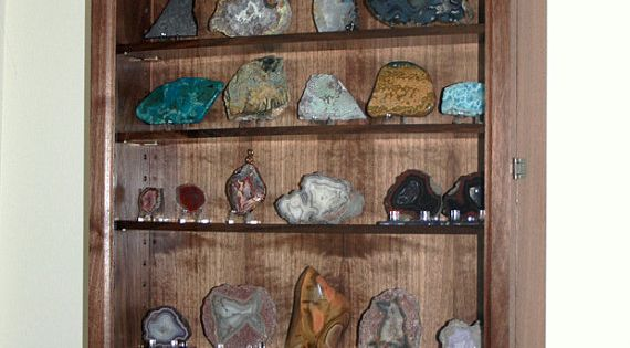 Mineral Rock Geode Display Case Wall Cabinet By Fwdisplay