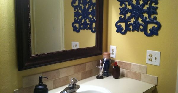 Yellow Bathroom Decor Ideas Pictures Tips From Hgtv: Navy And Yellow Bathroom Rugs