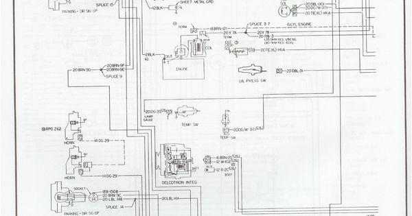 Wiring Diagram 1973 - 1976 Chevy Pickup #Chevy #Wiring # ...