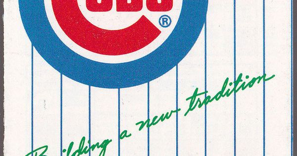 1982 Chicago Cubs Old Style Beer Baseball Pocket Schedule Free