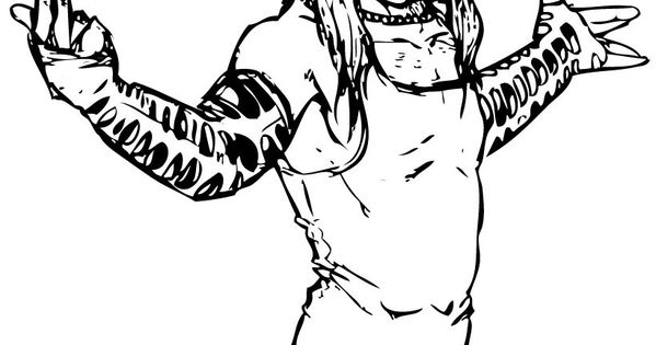 jeff hardy coloring pages free - photo#28