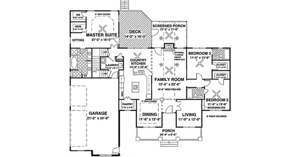 Just 1st and 2nd floor no basement change closets for Half basement house plans