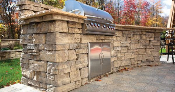 Outdoor Grill Designs Dry Laid Concrete Block