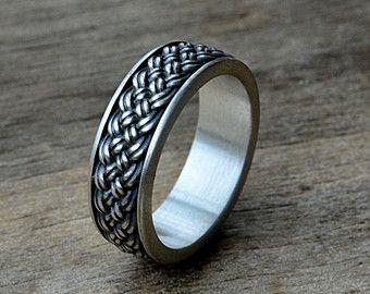 Viking Mens Ring In Oseberg Style Norse Jewelry Rings For Men Skull Engagement Ring