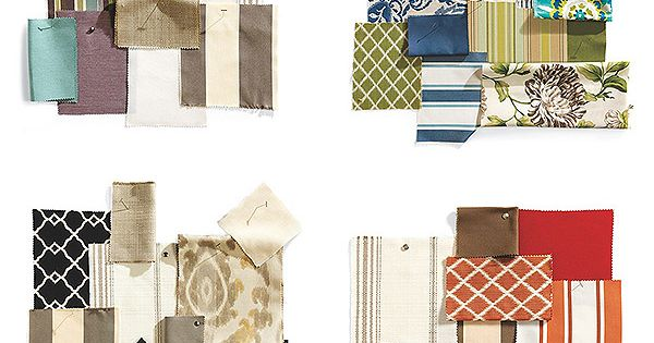 How to coordinate our outdoor fabrics swatch living rooms and room for Coordinating fabrics for living room