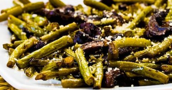 Roasted Green Beans with Mushrooms, Balsamic, and Parmesan | Food ...