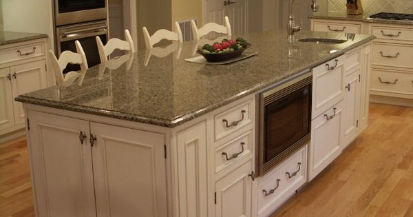 White Cabinets Gourmet Kitchen Big Island Eating Island