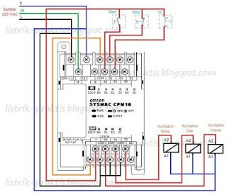 wiring plc pengasutan motor star-delta | listrik, teknik listrik ...  pinterest