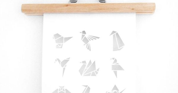 Origami Bird Papercut by Sarah Louise Matthews ♥ illustration origami art