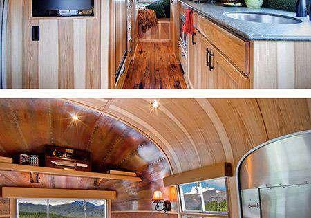 15 awesome airstream interiors wohnwagen wohnmobil und for Wohnmobil innendesign