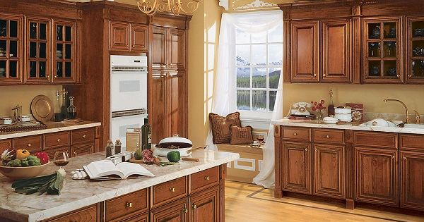 Warm Up Your Kitchen With These Pecan Cabinets By Schuler