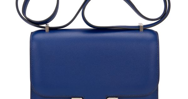 best inexpensive purses - hermes blue sapphire swift mini constance 18cm, hermes tote