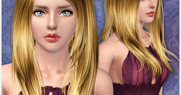 Hair Style Zone: Silky Long Hairstyle ID 000059 By Peggy Zone For Sims 3