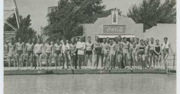 Participants In The Opening Events For The Clovis Nm Municipal Pool 1937 Photo By Jack Hull