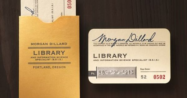 cool business card. Remember when library cards really did look like this?
