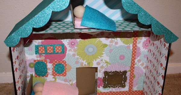 Shoe Box Dollhouse Craft For Kids: Crafty Inspiration