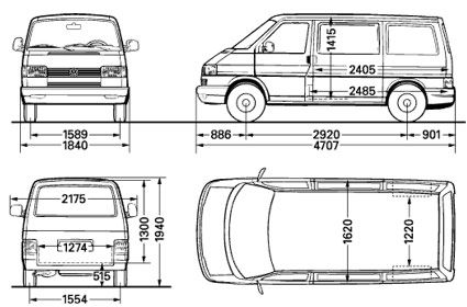 dimensions of the vw t4 transporter van t4 camper pinterest vw t4 transporter t4. Black Bedroom Furniture Sets. Home Design Ideas