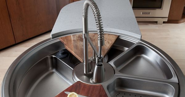 Rotating Sink, Has Cutting Board, Colander & More - well designed and