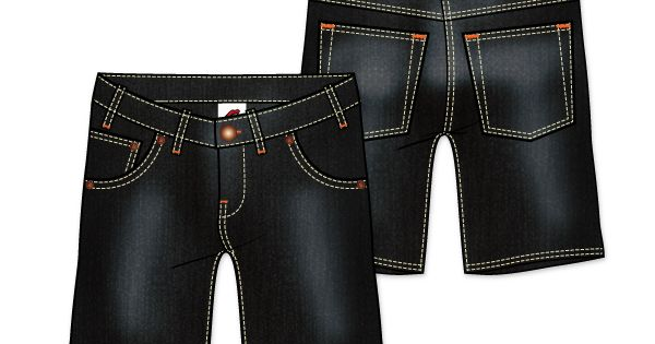 Mens Denim Shorts Vector Template Vecfashion Black Dress Pants Men Mens Denim Shorts Denim Shorts