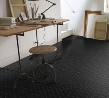 Rev Tement Sol Pvc Authentic Pastille Noir 2m Vendu Au M Castorama In 2020 Furniture Home Decor Home