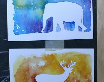 DIY: Watercolor Silhouette | Prudent Baby water color paper
