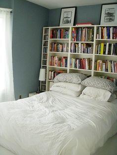 Bookshelf Behind Bed Headboard With Shelves Bookshelf Headboard Bookshelves In Bedroom