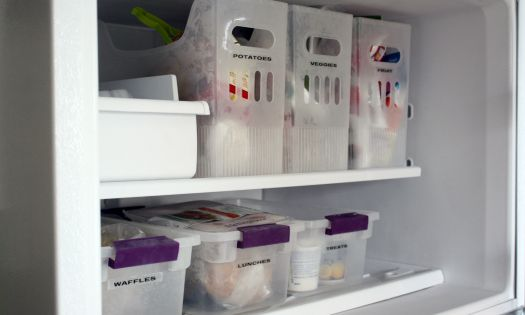 freezer organization (and lots of kitchen organization too)