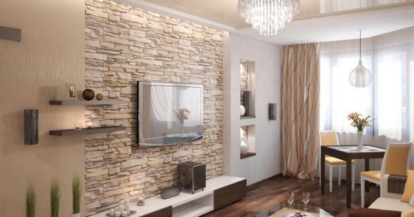 natursteinwand im wohnzimmer und warme beige nuancen w nde pinterest living rooms and room. Black Bedroom Furniture Sets. Home Design Ideas