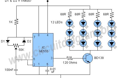 555 Pwm Led Dimmer Led Dimmer Circuit Diagram Led