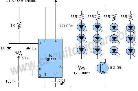 555 Pwm Led Dimmer Led Dimmer Circuit Diagram Led