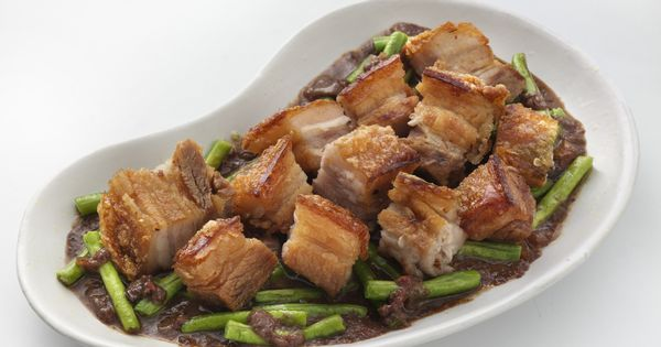 Pork binagoongan traditional filipino food pork for Authentic filipino cuisine