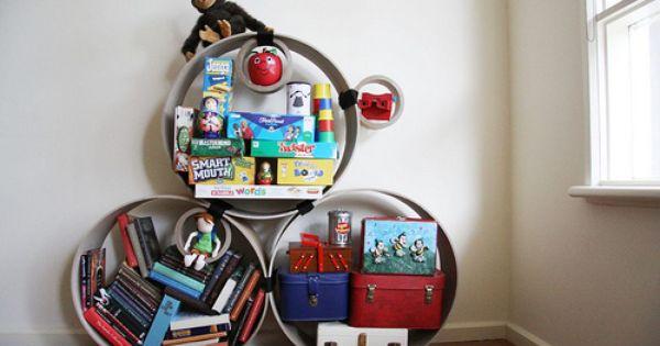 Round Book Shelves by kootoyoo, via Flickr