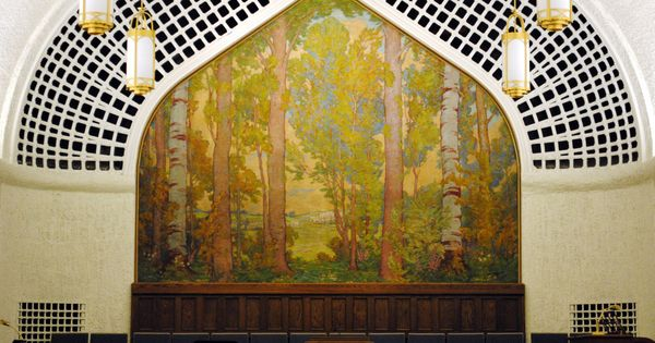 Lee greene richards mural found in a highland park chapel for Cypress gardens mural