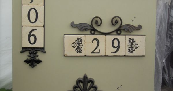 Stupendous Decorative Address Plaques With Tile For The Home Door Handles Collection Olytizonderlifede