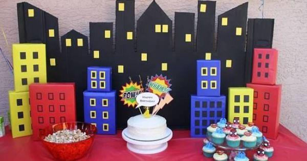 SUPERHERO Party CIRCLES or Party Bursts - Superheroes Birthday Party - Batman,