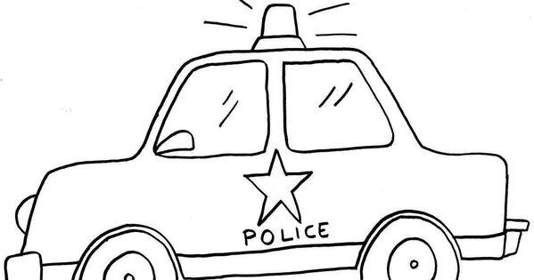Trafik Haftasi Icin Polis Arabasi Boyama Sayfasi Polizei Malvorlage Auto Polizeiwagen