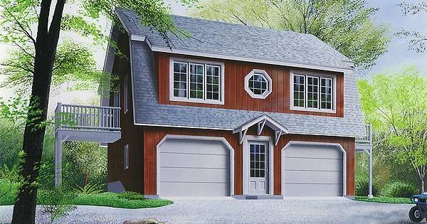 This garage plan has surprising housing as well with a for Two and a half car garage