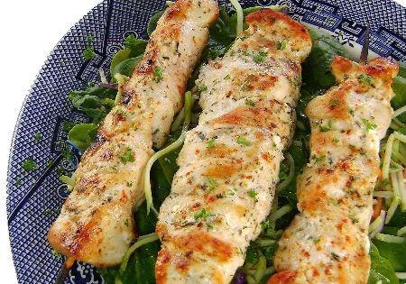 Lemon Garlic Chicken Kabobs - Click for Recipe Chicken 1/3cup extra-virgin olive