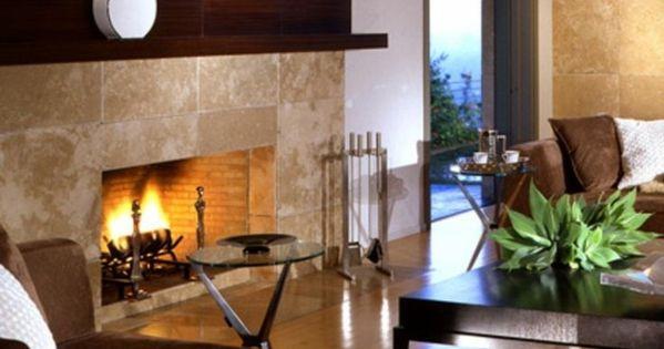 modern kamin regal darber wohnideen pinterest - Steinplatte Kamin Surround
