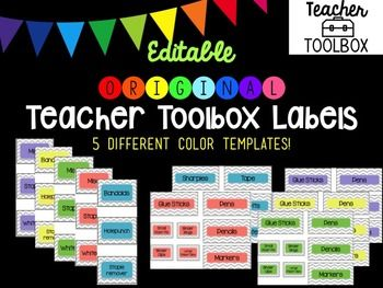 Editable Original Chevron Teacher Toolbox Labels Teacher Toolbox Labels Teacher Toolbox Termite Control