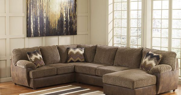 The cladio hickory modular sectional by benchcraft by for Sectional sofa redo