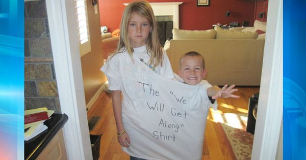 "the ""we will get along"" shirt - future kids, beware :-)"