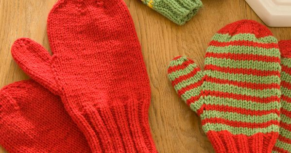 Mittens for All - this is a great, simple pattern on DPNs. 3/4 through my fir...