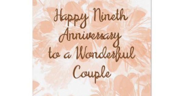 9th Wedding Anniversary Card Peach Flowers Zazzle Com 9th Wedding Anniversary Wedding Anniversary Cards Wedding Anniversary