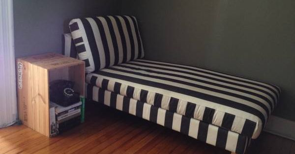 Ikea karlstad chaise lounge for sale with black and white for Chaise lounge black friday sale