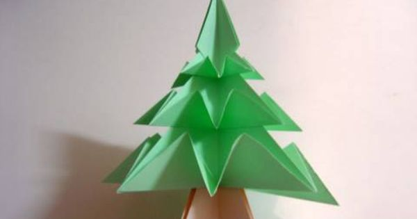 how to fold a simple origami christmas tree christmas