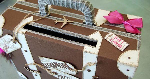 urne de mariage valise en carton faire soi m me poupee pinterest mariage. Black Bedroom Furniture Sets. Home Design Ideas