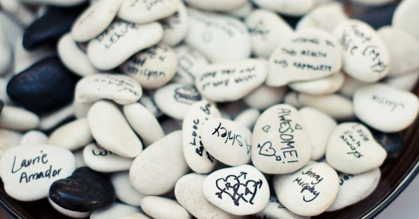 Have your guests sign river rocks instead of a guest book. It's